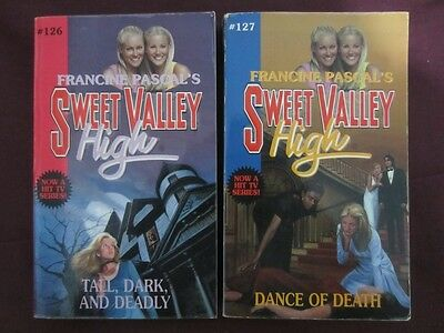 2 x Sweet Valley High Books #126 Tall, Dark, And Deadly #127 Dance Of Death