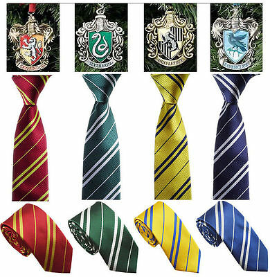 Harry Potter School Tie | House Colours  Gryffindor Slytherin Ravenclaw Hufflepu