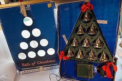 Mr Christmas Bells Of Christmas 10 Brass Bells 15 Carols 4 Part Harmony Lighted
