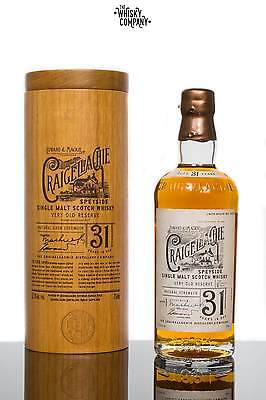 Craigellachie 31 Years In Oak Speyside Single Malt Scotch Whisky