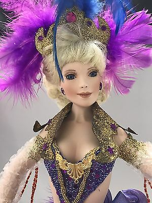VTG porcelain doll. Paradise Galleries Spectacular Dance Revue Misty COA