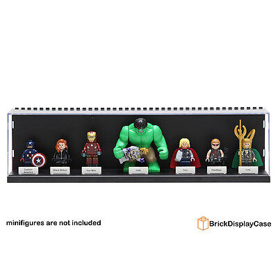 Display Case for Lego Avengers Minifigures Iron Man Hulk Black Widow Haweye 2