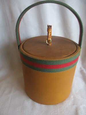 """Vintage Gucci Inspired Equestrian Ice Bucket 11"""" x 8"""" Kraftware Made in USA"""