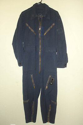 1950's USAF Pilot's L-1A Blue Wool Flight Suit, Nice Used, Size Medium Short