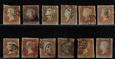 Great Britain #3, 1841 1d Imperf full row of 12 letters, NA-NL, VG (Sc $108 US)