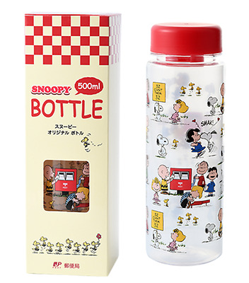 SNOOPY BOTTLE 500ml Not for sale Limited Japan Post Water Plastic Lightweight
