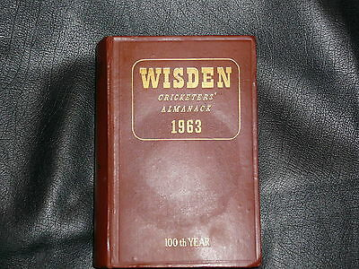 1963 WISDEN original wrappers Hard back Edition in highly collectible condition