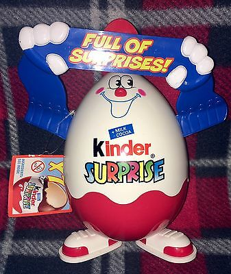 KINDER SURPRISE Ferraro Egg Man Full Of Surprises Figure Storage Container HTF