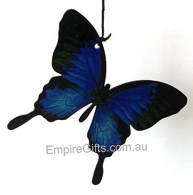 Best Seller - Wind Chime Blue Ulysses Butterfly Metal Garden Hanging Mobile 8pc