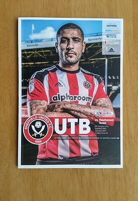 2016/17 SHEFFIELD UNITED v FLEETWOOD TOWN   -  NEW & UNOPENED