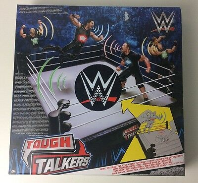 Mattel Wwe Tough Talkers Interactive Wrestling Ring - Free Uk Delivery