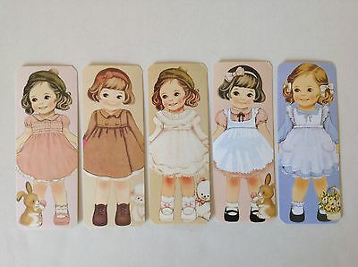 Lotto 5 Segnalibri Bambole Vintage ~ Bookmarks Dolls