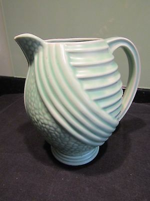 Vintage Art Deco Style Wade Pale Green Jug/Vase Pattern 407 Very Good Condition