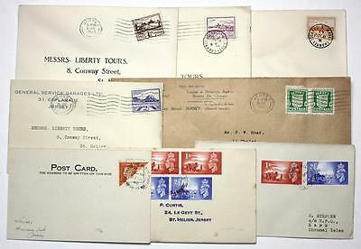 Channel Is First Day Covers Mostly Jersey Liberty Tours covers, Guernsey Bi-sect
