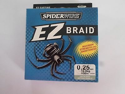 TRESSE SPIDERWIRE EZ BRAID 0.25mm 15,2kg 100m vert