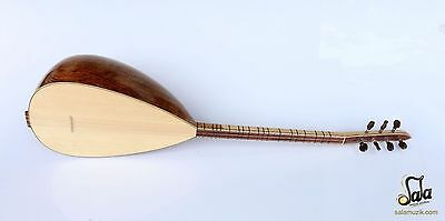 Turkish Professional Short Neck Carved Chestnut Baglama Saz HSSS-119