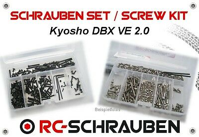Screw Set for the Kyosho DBX VE 2.0 - Stainless Steel & Steel - ISK & IS