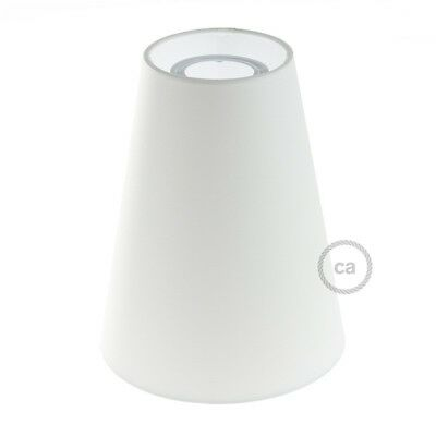 Paralume Cilindro, Ø 16cm h20cm,  Bianco - 100% Made in Italy