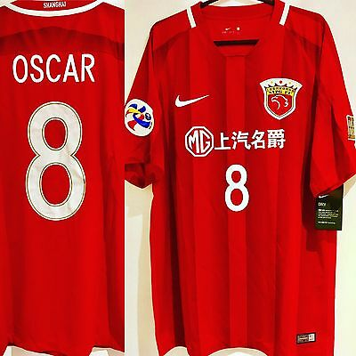 LAST ONE! *BNWT* 2017 China League Shanghai SIPG ACL Shirt #8 Oscar Size M
