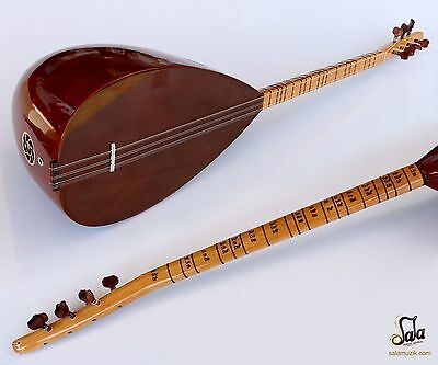 Turkish Quality Short Neck Walnut Baglama Saz For Sale ASK-111N
