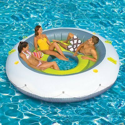 Summer Toys Pool Toy Beach Raft Boat Inflatable Island Lounger For Kids Adults
