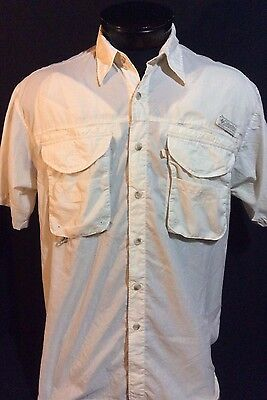 Columbia Performance Fishing Gear Vented Button Front Short Sleeve Shirt Medium