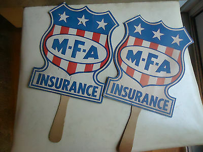Collectable Vintage Handheld MFA Insurance Fan Columbia Missouri