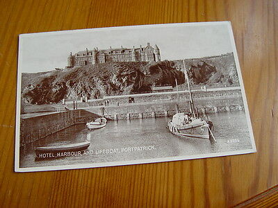 TOP2185 - Valentine's Postcard - Hotel, Harbour and Lifeboat, Portpatrick