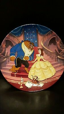 "Disney Plate Beauty and the Beast "" A Blossoming Romance ""  plate 989  beautiful"