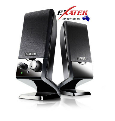 Edifier M1250 Stereo Speakers Usb Powered Headset Jack On/off & Volume Control