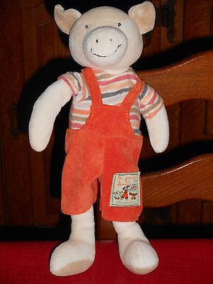 Doudou Cochon Philemon Salopette Orange 30cms env Moulin Roty TTBE