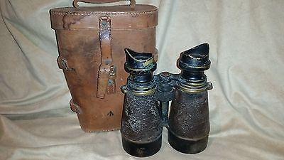 Ww1 Army Issued Binoculars And Leather Case 1917