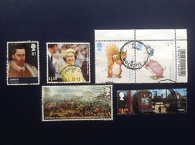 GB Stamps High Value Commemoratives Selection to 2016 Used off paper Kiloware 2
