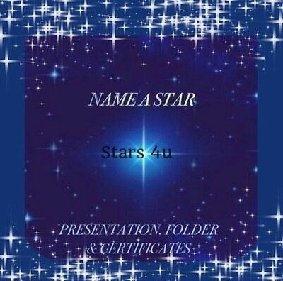 ☆Name A Star .certificate Personalised Gift ☆ Bereavement Rememberance