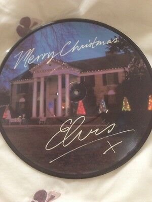 "Elvis Presley Merry Christmas 10"" Single Picture Disc RCAP369 I Can Help 1983"