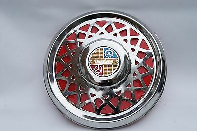 "VESPA Sprint Rally LVB VBC GL GS 10"" Chrome Spare Wheel Cover Trim Red"