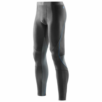 SKINS RY400 Men's Compression Long Tights For Recovery Muscle Healing Graphite