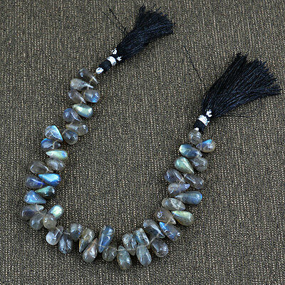 Aaa 176.30 Cts / 8.5 Inches Natural Labradorite Drilled Untreated Beads Strand