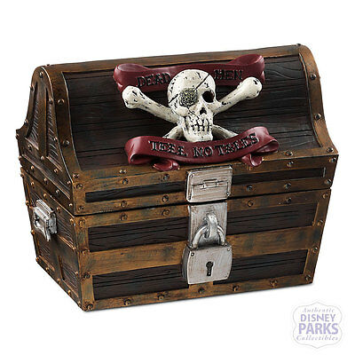 Disney Parks Pirates of the Caribbean Treasure Chest and Coasters