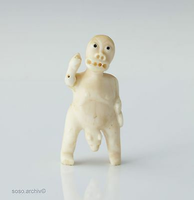 Inuit Art Schamane Spirit Figure Grönland Native Art bone Tupilak ca.1940 Eskimo