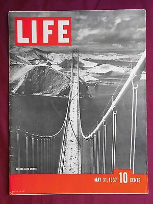 Golden Gate Bridge Life Magazine May 31, 1937 Mae West Henry Ford Movies