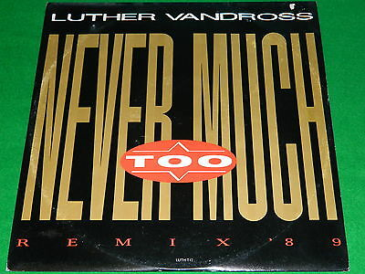 "LUTHER VANDROSS : Never too much (remix '89) - Original 1989 12"" single VG/EX"