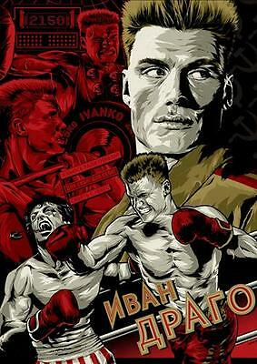ROCKY IV 4 POSTER Balboa Boxing Quote Ivan Drago Russia Photo Print Poster A3 A4