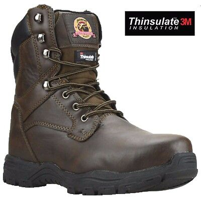 Mens Brahma Safety Steel Toe Cap Military Combat Ankle Hiking Hi Boots Shoes Sz