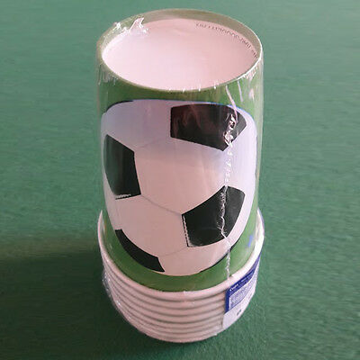 Pack of 8 Football Soccer Party Paper Cups 266ml Birthday Party Sports Tableware