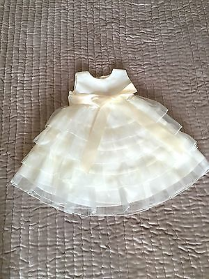 Girls Ivory Zoey Christening/Bridesmaid/Party Dress/Gown Age 12 Months