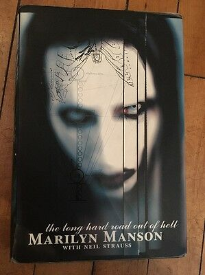 MARILYN MANSON Long Hard Road Out Of Hell HB DJ FIRST EDITION