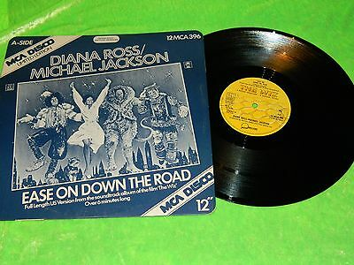 """DIANA ROSS & MICHAEL JACKSON : Ease on down the road -Orig 1978 12"""" single EX/NM"""