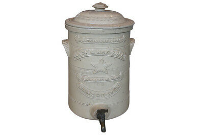 late 19th Century Victorian stoneware water filter (12-926)