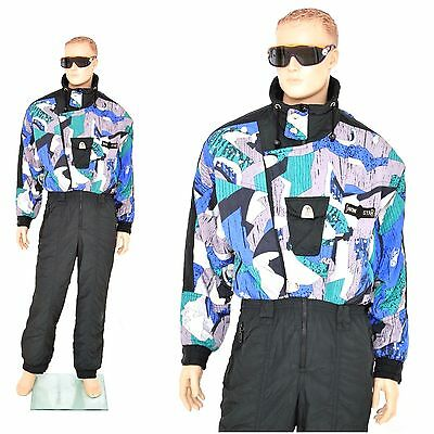 vintage retro SKI SUIT onesi size mens LARGE 52 80s all in one onepiece Austria